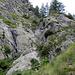 Gesicherte Passage über eine Steilstufe