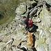 Steiler Abstieg zurück zur Gollingscharte