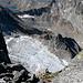 Piccolo ghiacciaio sul versante N del Piz Denter