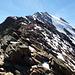 Am Ramoljoch (3189m) präsentiert sich der Spiegelkogel als schneidiger Berg.