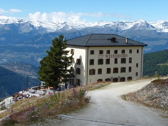 Abstecher Zum Hotel Weisshorn Mit Seiner Superlage Fotos