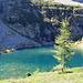 Il lago salendo alla capanna Efra.