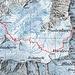 Normalroute (10.09.2012)<br /><br />Kartenmaterial von map.geo.admin (Route ergänzt); Route kann sich ändern und ist auf Karte nur ansatzweise dargestellt (Karte entspricht ca. einer Verkleinerung von 1:25'000).