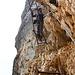 Und wieder mehrere Leitern gilt es zu überwinden. Ohne Leitern wäre der Kletterabschnitt mindestens eine III.