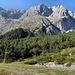 Östl. Griesspitze mit Schoßköpfen überm Unterplattig (Wegverlauf dort von rechts nach links oben)
