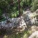 Treppenstufen im Abstieg von Usc nach Sobrio.