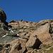 Al centro della foto, ancora lontana, la Punta Gerla
