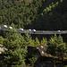 Eine der vielen Hängebrücken über den Dudh-Kosi. Momentan wegen Schwerlastverkehr gesperrt.