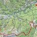 Ungefähre Route Cauradisc-Pizzo Sascola-Rovana