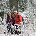 Helena und Irene im Winterwald