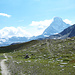 Triftchumme mit Breithorn, Matterhorn und Untergabelhorn