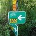 immer dem Radweg Nr. 830 folgen