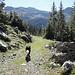 Einsame Wanderung in ruhiger Berglandschaft
