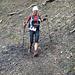 die Siegerin (Denise Zimmermann) leicht verschwommen... wohl zu schnell unterwegs!