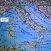 Karte von Italien mit eingezeichneter Lage des italienischen Landeshöhepunktes. Der 4760m hohe Punkt liegt unmittelbar neben dem höchsten französischen Gipfel Mint Blanc (4810,45m).