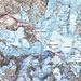 Unsere Route über den Normalweg auf den Mont Blanc (4810,45m). Die Route je nach Literatur die Schwierigkeit WS- oder WS, Fels bis II (meist I) und Firn oder Eis bis etwa 40°.