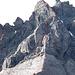 Übersicht über die Aufstiegsroute über den Mittelgrat zum Grat Ringelspitz-Vorder Ringel (ohne Gewähr).