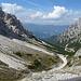 Dal passo la discesa in Val Badia
