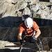 Überhängende Leiter