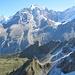 Hinten Eiger und Jungfrau, vorne Schafberg und Spitzhorn - Ellstab