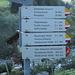 nach rund 5 Kilometern erstmals ein Hinweis auf die Konstanzer Hütte: Demnach die Entfernung Silbertal - Konstanzerhütte rund 23 km