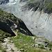Tiefblick auf den Gletscher