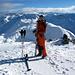 [u Tanja] auf dem Gipfel des Piz Dora 2951m