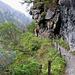 Il sentiero che contorna la sponda meridionale del Lago dei Cavalli.