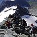 Tiefblick vom Kleinglockner auf den Aufstiegsweg