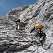 Im Gipfelaufbau, kurz vor der zweiten Schlüsselstelle