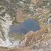 Lago del Cramec (q. 1981) con, ben visibile, la cascina dell'Alpe Cramec