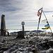 Gipfeldekoration des Hoverla (2061m), des höchsten ukrainischen Gipfels.