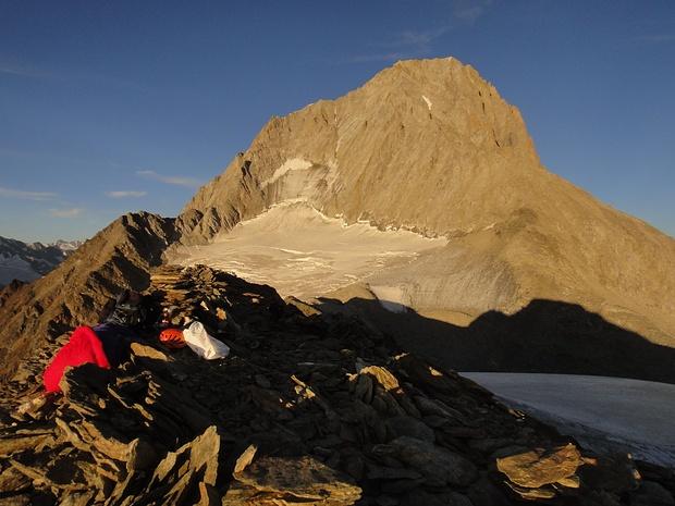 Abendstimmung auf dem Schafbärg... doch, der Gipfel scheint ganz rechts zu sein...!?