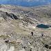 Schlussanstieg und der kleine See unterhalb des Centrale