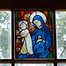Particolare della vetrata della chiesa