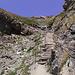 der Abstieg vom Col de Tsofeiret