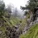 Im unteren Aufstiegsbereich oberhalb des Pitzetals - wildromantisch