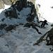 Aufstieg durch die Rinne auf den SW Ridge