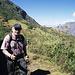 Wolfgang auf dem Höhenweg zu den Ruinen von Choquequirao.