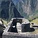 Der Sonnentempel in Machu Picchu. Im Hintergrund das Urubamba-Tal.
