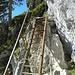 Nach dem Spalt muss man einige kleine Leitern erklimmen