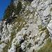 Solche Passagen sind typisch für den Klettersteig