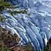 Tiefblick auf den Gletscher.