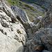 Im oberen Teil des Schaffhauserkamins, gleich oberhalb der für mich schwierigsten Stelle: der Kamin wird hier rel. schmal, kaum Tritte oder Griffe.