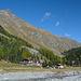 Bergrestaurant Roseggletscher - von dort ging es dann zu Fuß weiter und das Velo blieb stehen