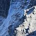 Erster Schnee in der abweisenden Nordseite der Kaltwasserkarspitze.