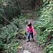 Steiler Aufstieg 150Hm zum Rest. Milchbach