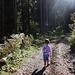 Im Wald, links wieder ein Hüüsli