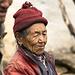 Ältere Frau bei Phurte, zwischen Namche Bazar und Thame