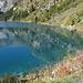 Spiegelung im blauen Lac de Tseuzier